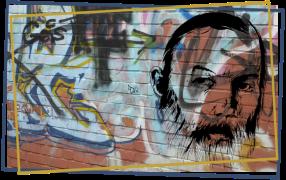 """Grafik-Collage Tusche und Foto für das Studentenmagazin """"Presstige"""""""